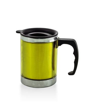 metal yellow cup
