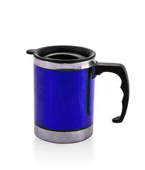 metal blue cup