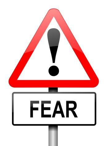 Fear warning concept.
