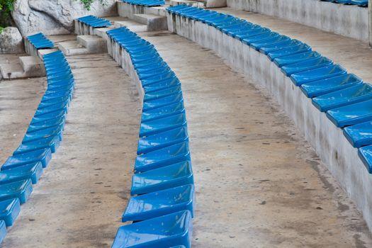 old plastic blue seats