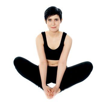 Flexible yoga woman