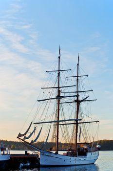 Tall Ship at  dawn