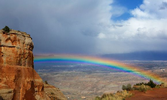 Rainbow over Grand Junction