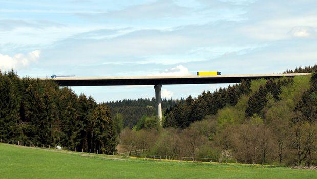 green highway bridge
