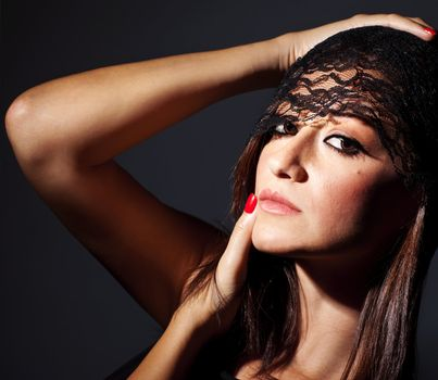 Beautiful glamor female portrait