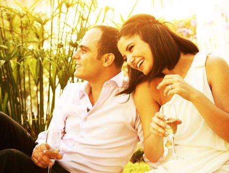 Happy couple outdoor