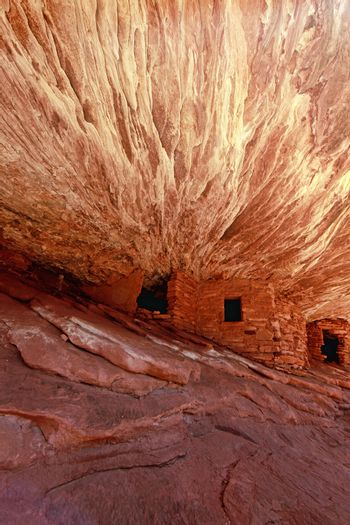 Pueble Home Ruins of The Anasazi Native American People