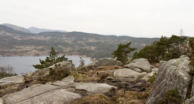 stony coast in norway