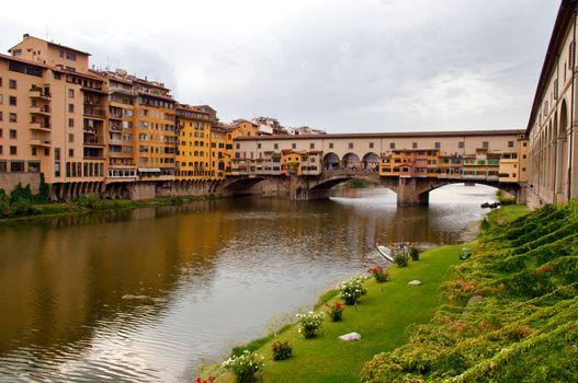 Firenze - Italy - Arno river and Ponte vecchio