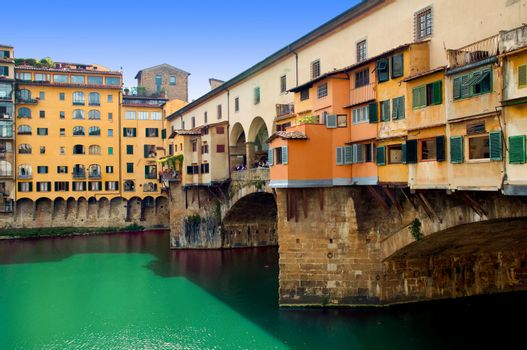 Firenze - Italy - Houses and shops at Ponte vecchio
