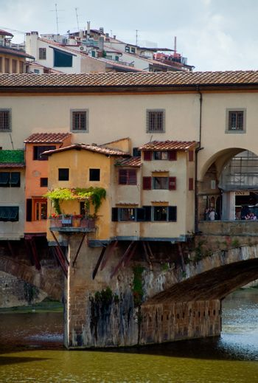 Firenze - Italy - houses on Ponte Vecchio