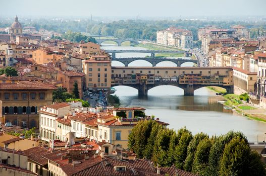 Firenze - Italy - Ponte vecchio and bridges Up view