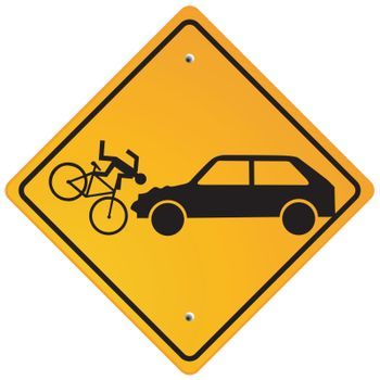 Caution cyclists