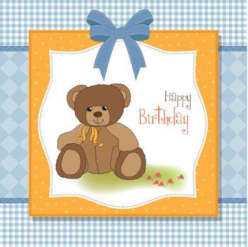 birthday card with teddy