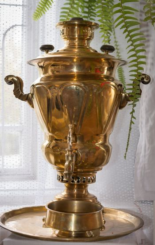 Traditional russian old samovar