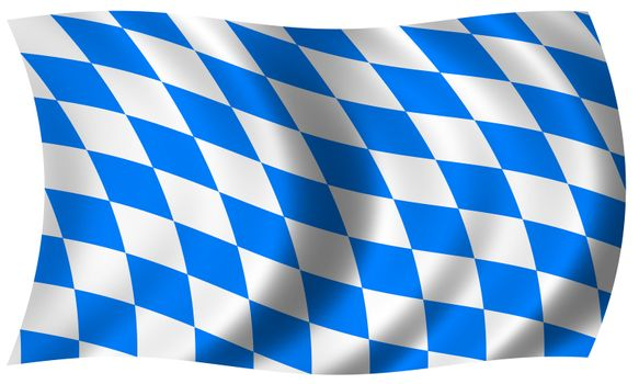 bavaria flag in wave