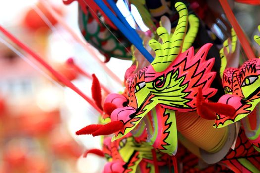 BANGKOK - JANUARY 23 : Chinese New Year 2012 - Dragons for sale in Chinatown, Bangkok, Thailand on 23rd January 2012