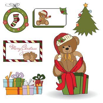 Christmas decoration elements set