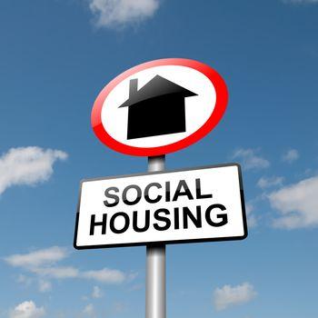 Social housing concept.