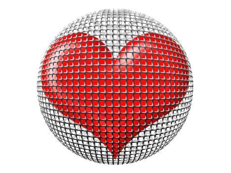 heart in sphere
