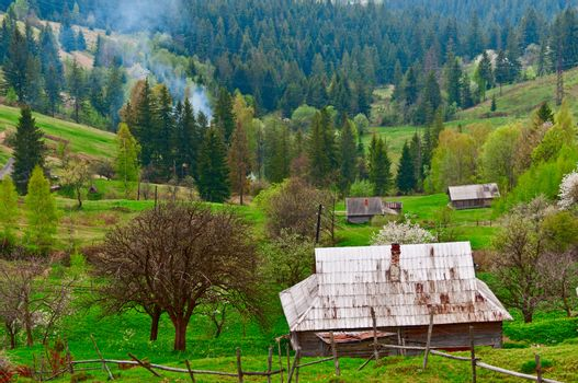 Old village  Western Ukraine