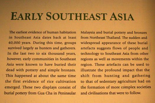 Info Text - Asian Civilization Museum - Empress Place, Singapore