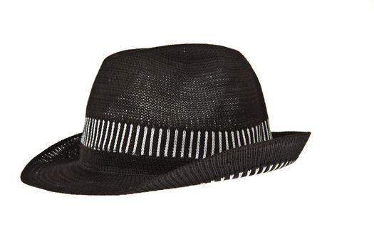 Beautiful traditional Panama hat isolated on white background