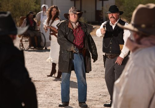 Mean Gunfighters in Shoot Out