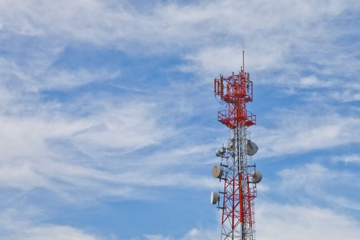 Mobile phone communication repeater antenna tower