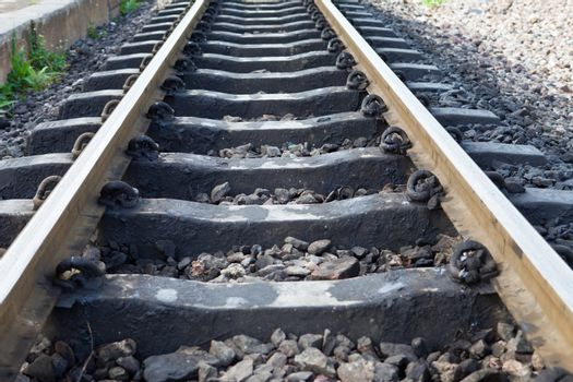 Railway Track Closeup