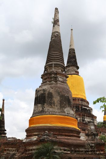 Old pagoda and temple in Thailand