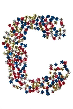 Paper Stars Alphabet C