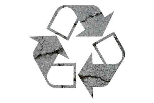 Recycled Symbol on White Background