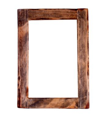 Wooden frame  clipping path