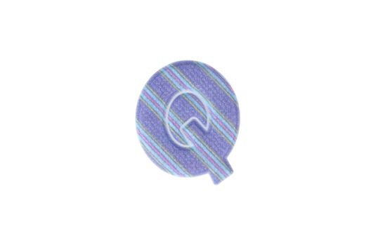 Alphabet Q Isolated on White Background