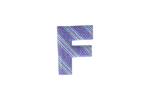 Alphabet F Isolated on White Background