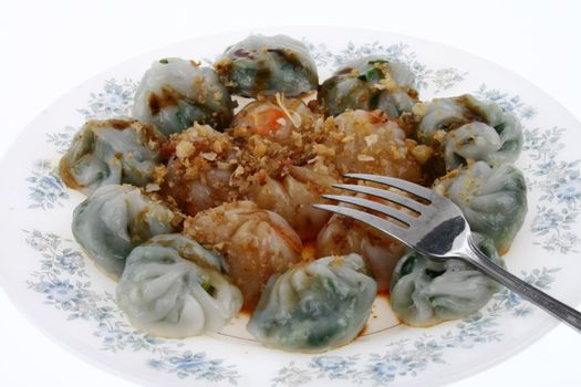 Chinese dumplings with vegetable filling