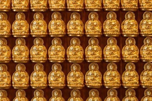 Small Buddha Statue in Rows
