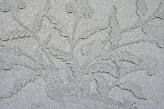 Chicken with Tree on Carve Wall