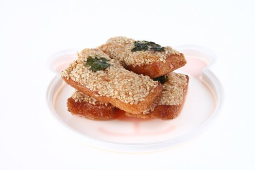 Deep Fried Bread with Shrimp and sesame