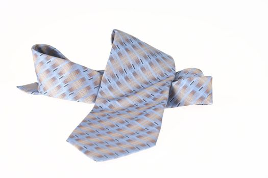 Isolated Blue Necktie Close Up