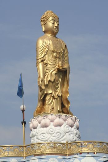 Golden Buddha Statue on the roof