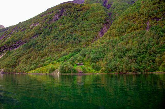 Geiranger fjord lone house