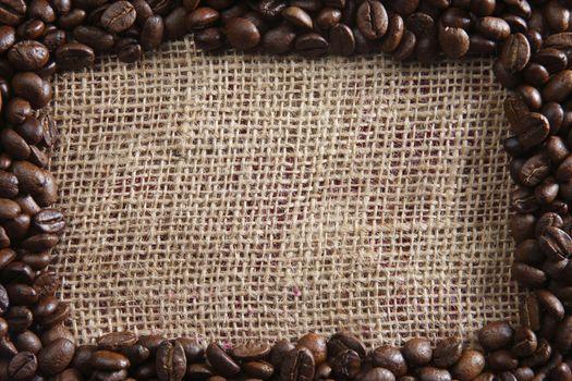 coffee bean arrange form a frame