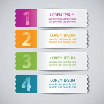 set of colored ribbons for product choice or versions 3