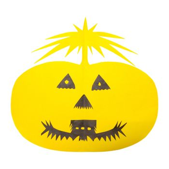 Halloween Pumpkin paper isolated on white