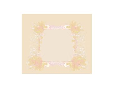 Grunge Frame For Congratulation With Flowers
