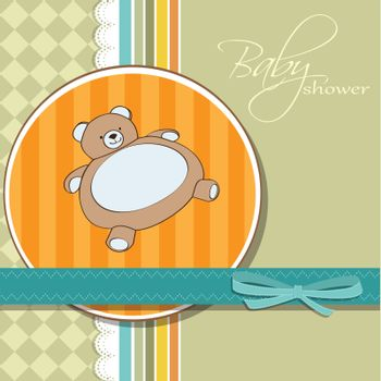 shower card with teddy