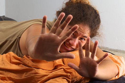 Peruvian Woman Doesn't Want to Be Photographed