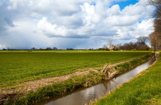 farmland and beautiful sky